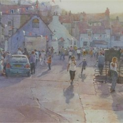 Evening-gathering-Lifeboat-Day-Staithes