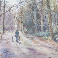 A-morning-dog-walk-Clumber-Park