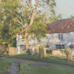Late-summer-sun-Misson-Churchyard
