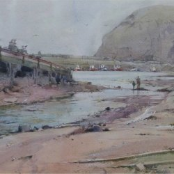 Beach-and-slipway-Staithes-Harbour