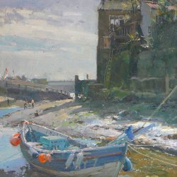 Bright-Morning-Staithes-Oil-10-x-12
