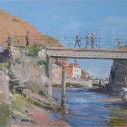 Conversations-on-the-bridge-Staithes