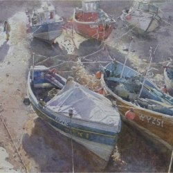 Crisp-spring-afternoon-Staithes
