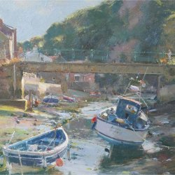 Glancing-evening-sun-Staithes-Beck