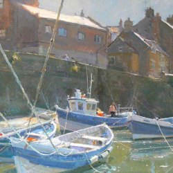 Hot-August-Day-Staithes-Oil-16-x-12