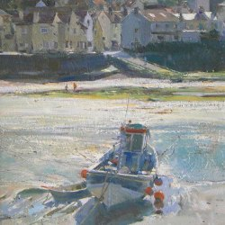 Into-the-Sun-Staithes-Harbour-Oil-9-x-12
