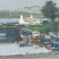 Last-light-Crinan-Harbour