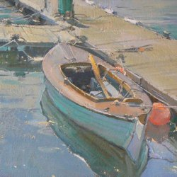 Little-Moored-Boat-Oil-8-x-12