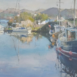 Morning-calm-Crinan-Harbour