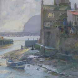 Morning-sun-Staithes-Harbour