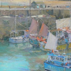 Sails-Drying-Newquay-14-x-10-Oil