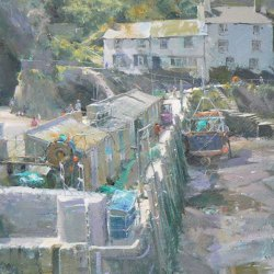 Sheltered-Moorings-Polperro-Oil-16-x-12
