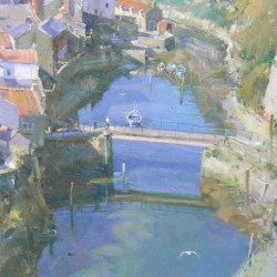 Staithes-from-a-High-Viewpoint-Oil-16-x-12