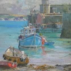 The-Old-Harbour-Newquay-Oil-10-x-12