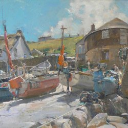 The-Slipway-Sennen-Cove-Oil-16-x-12