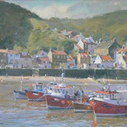 Vessels-in-the-Outer-Harbour-Staithes-Oil-10-x-12