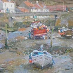 Winter-Moorings-Staithes-Oil-14-x-10