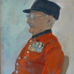 Chelsea-Pensioner-at-The-Mall-Oil-16-x-20