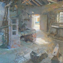 Old-Forge-Interior-Sandbeck-Oil-20-x-24
