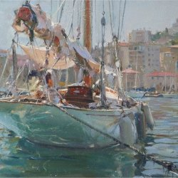 Sailing-vessel-moored-Marselles-Harbour