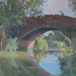 Bridge-on-the-Chesterfield-Canal-Oil-10-x-12